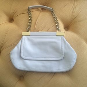 HP 12/28 Cynthia  Rowley off white leather bag