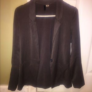 H & M Gray Blazer Jacket Size 2