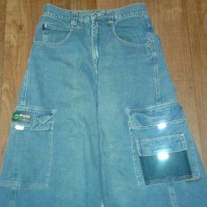 Kikgirl vintage raver pants - wide leg jeans