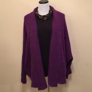 Spiegel Sweaters - Purple Sweater Open Cardigan