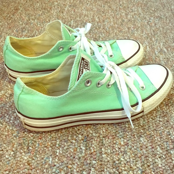 Seafoam Converse Shoes