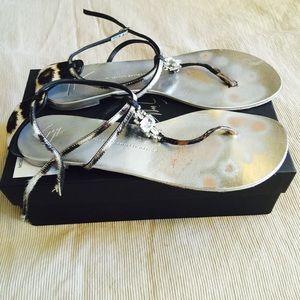 Giuseppe Zanotti Crystal Flat Sandals