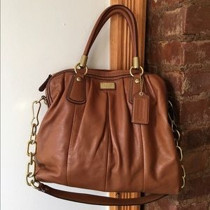 Coach Kristin Leather Pleated Satchel