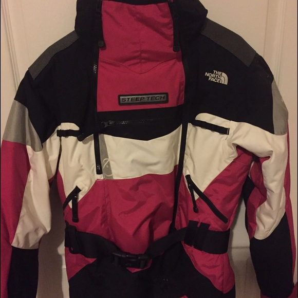 The North Face Jackets Coats Pink Black North Face Steep Tech