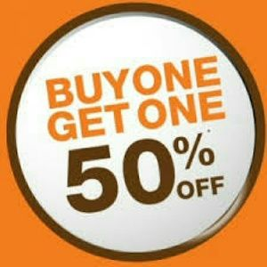 BUY ONE GET ONE 50% OFF limited time only!