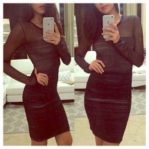 BCBG beautiful  black mesh BodyCon dress
