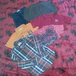 Boys size 7 clothing lot