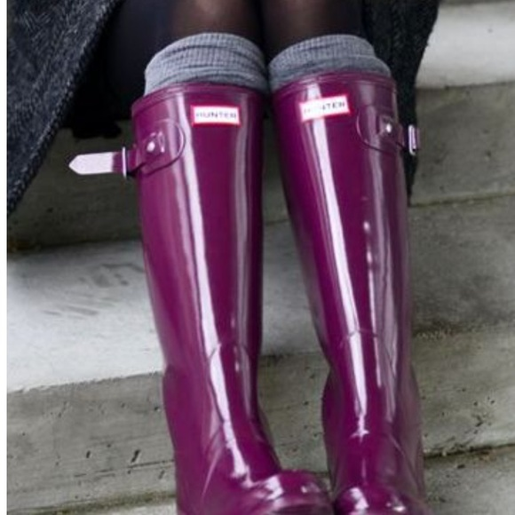 56% off Hunter Shoes - Women's Original Tall Gloss Rain Boots from ...