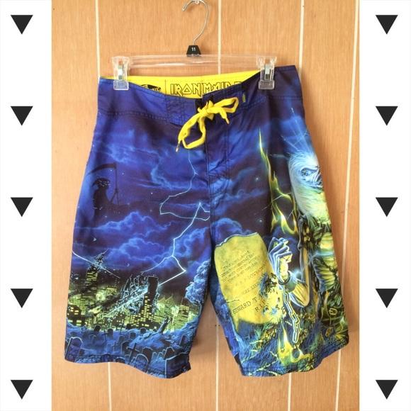 a090822a2a Vans Shorts | Iron Maiden Board | Poshmark