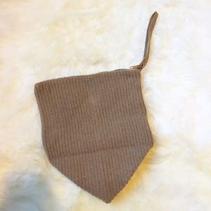 Handbags - 100% Cashmere Camel Wristlet Purse