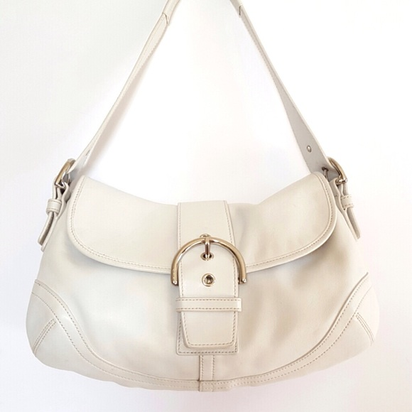 d02390bfd1 Coach Handbags - Coach White Leather Shoulder Bag
