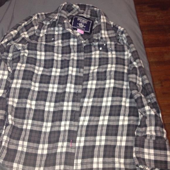 71 Off Pink Victoria 39 S Secret Tops Pink Grey Flannel
