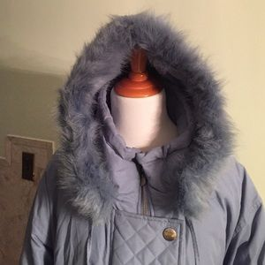 1f51ecfd80e Outdoor Elements Jackets & Coats - Fur Lined 5x Blue Winter Down Feather  Jacket/Coat
