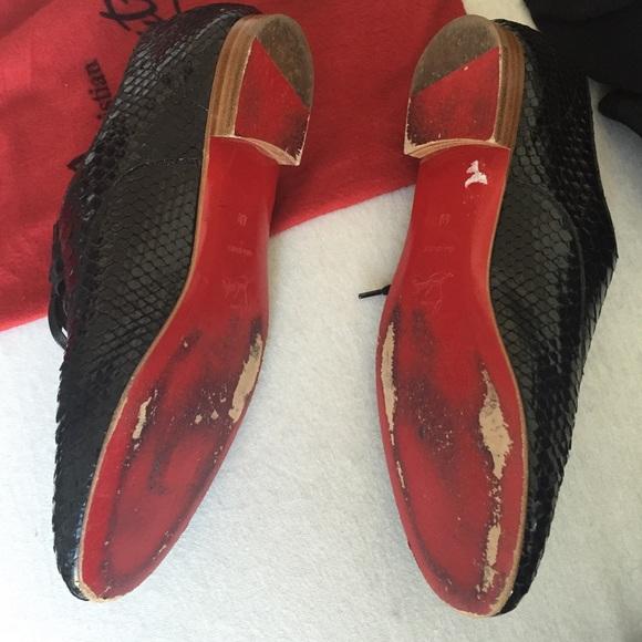 60% off Christian Louboutin Shoes - Christian Louboutin Black ...