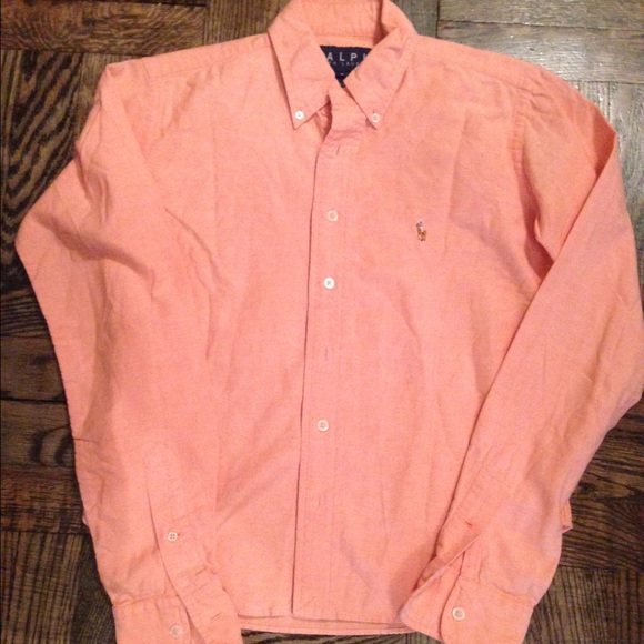 88% off Polo by Ralph Lauren Tops - Peach polo button up from ...