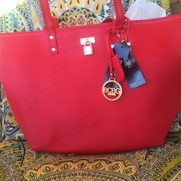 086c6c297326 2 BCBG bags large red bag and smaller bag