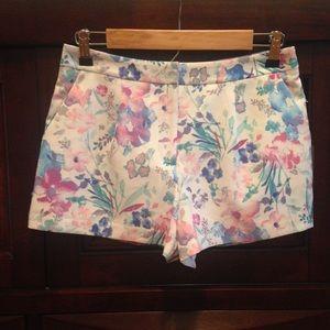 Love 21 Pastel Floral Print Shorts