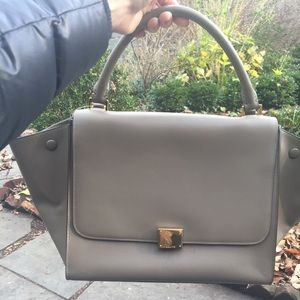 celine gray ryg1  Celine Trapeze Handbags on Poshmark
