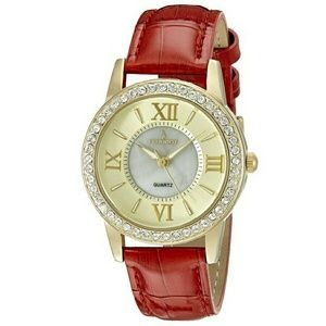 Peugeot Jewelry - NEW Peugeot women's red leather watch