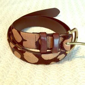 J.Crew hair calf leopard print belt