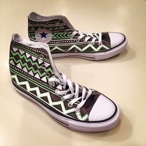 cca971ace07e Converse Shoes - Converse Hand Painted Geometric Aztec Pattern