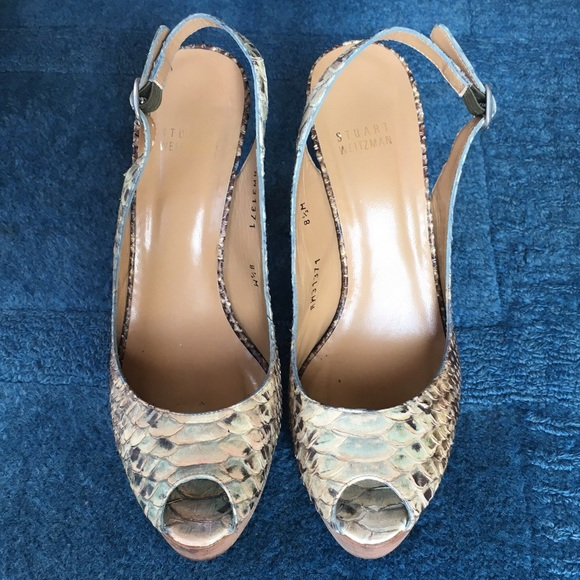 Stuart Weitzman Python Slingback Pumps collections sale online for cheap discount big discount sale online discount geniue stockist low shipping cheap price kBxnSaa
