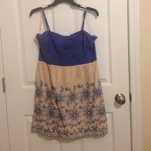 Blue lace flowery flying tomato dress