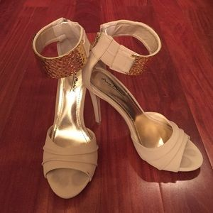 Nude and Gold Stilettos