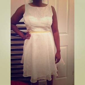Minuet white and silver dress