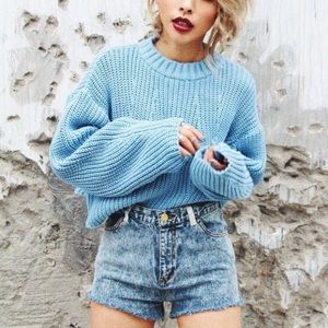 HORASORA CROP OVERSIZED SWEATER
