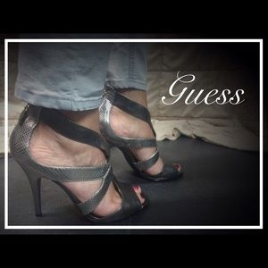 Guess Shoes - Guess Platinum Strappy High Heel Shoes