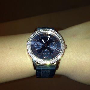 super tumblr gold non brand watch, with diamonds