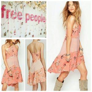 Free People Floral Print Slip Dress
