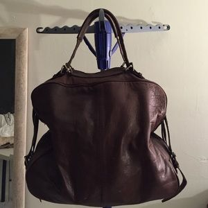 Sumptuous Dark Brown Leather Zara Travel Bag Tote