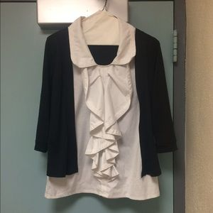A Black and White Allegra K shirt