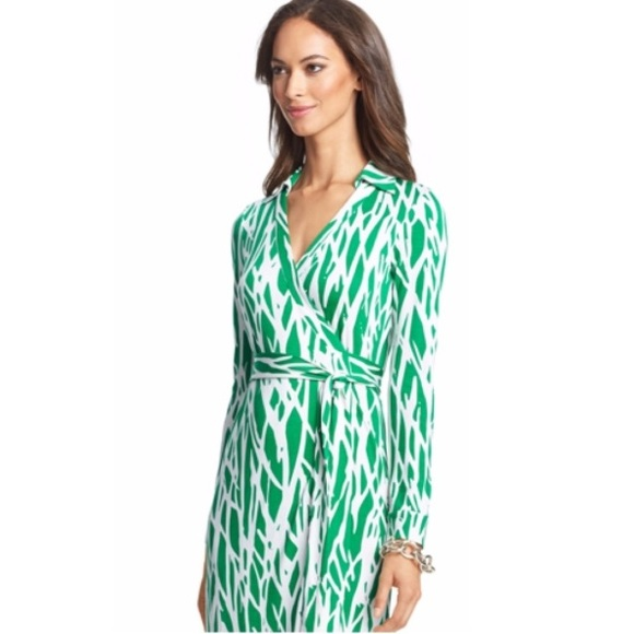 Long dvf wrap dress