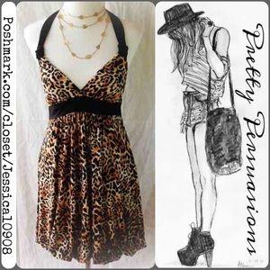 NWT Leopard Print Halter Dress