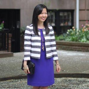 LOFT Jackets & Coats - Price Drop‼️ Dark Grey and White Striped Jacket