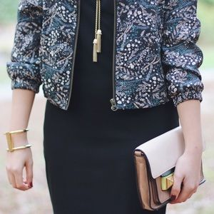 LOFT Jackets & Coats - Fall Floral Print Bomber Jacket