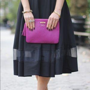 Chicwish Skirts - Price Drop‼️ Black Midi Skirt with Mesh Stripe