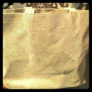 Silver glitter bag