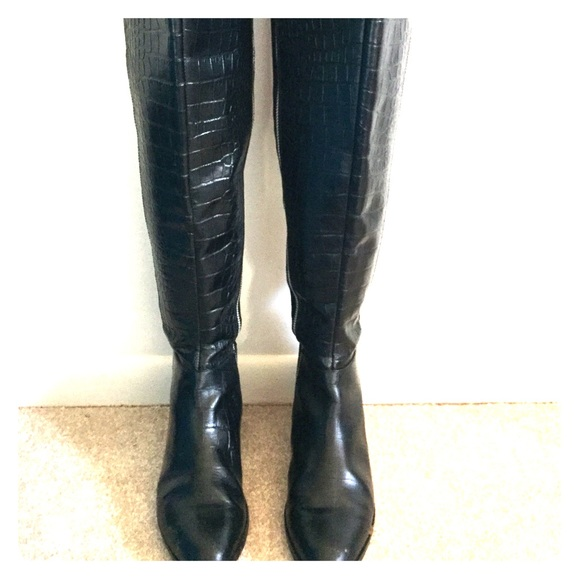 2d462b6c0b3 Michael Kors Croc Embossed Over the Knee Boots. M 566314a1729a66058c00701a