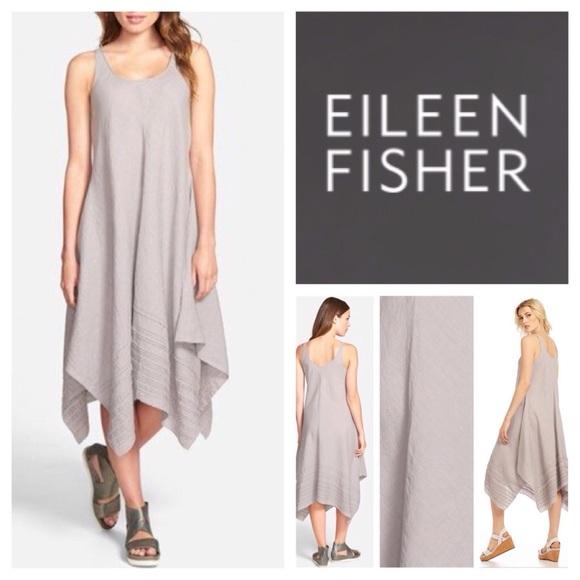 c4c20df791 Eileen Fisher Linen Handkerchief Tank Dress. NWT.