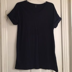 J.Crew rolled sleeve side slit tunic tshirt