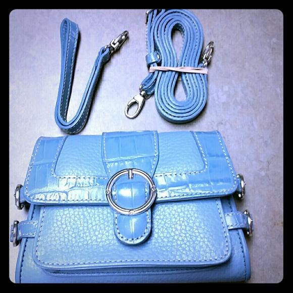 Brighton small blue crossbody / clutch / wristlet