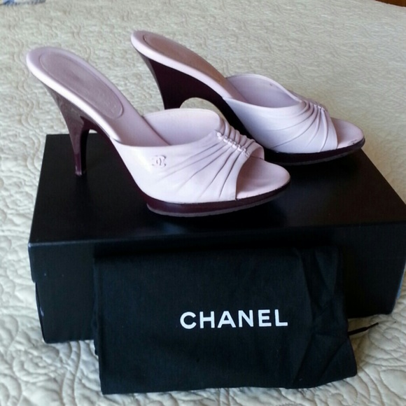 off CHANEL Shoes CHANEL Pink Platform Mules 38 Euro