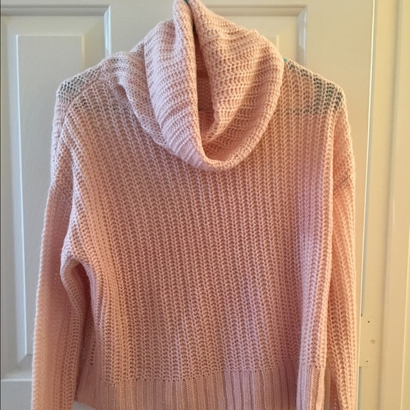 67% off Aeropostale Sweaters - Light Pink Cowl Neck Cropped ...