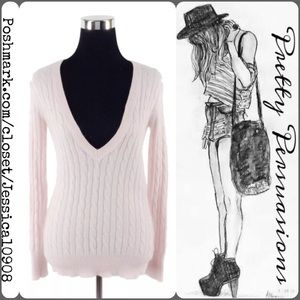 GAP Sweaters - Gap Powder Pink Angora V-Neck Sweater