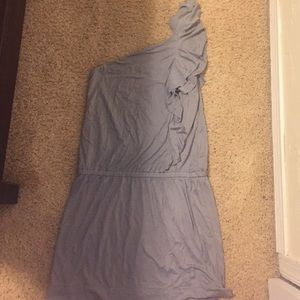 Gray one-shoulder Dress