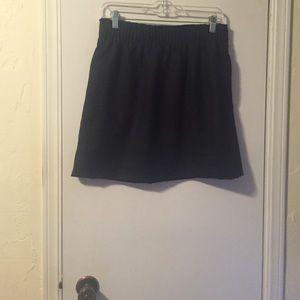 Gray wool mini skirt